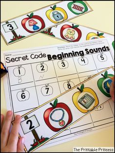 What's the beginning sound? Use the picture clues to crack the code!