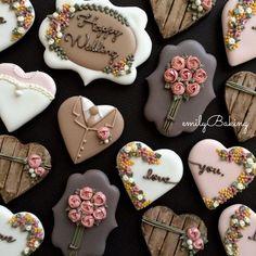 Botanical Wedding, chocolate browns, autumn colors, set by emilybaking