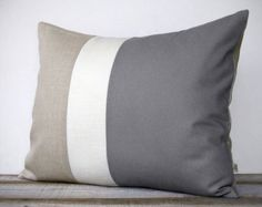 Gray Pillows by Maria on Etsy