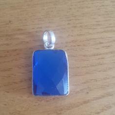 Blue Sapphire Gemstone Pendant - 925 Silver Sapphire Gemstone, Blue Sapphire, 925 Silver, Euro, Pendants, Gemstones, Gems, Trailers