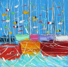 LES BATEAUX - THE BOATSWelcome to the official website of Jean-Claude Tron Van Gogh, Mixed Media, Website, Abstract, Artwork, Painting, Color, Paintings, Summary