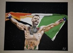 Conor McGregor painting acrylic paint UFC champion by AmiguRussia