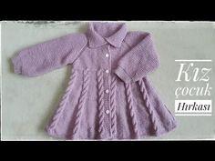 Baby Cardigan Knitting Pattern, Baby Knitting Patterns, Baby Patterns, Baby Girl Cardigans, Baby Sweaters, Knitting Videos, Crochet Videos, Crochet Baby Shoes, Knit Crochet