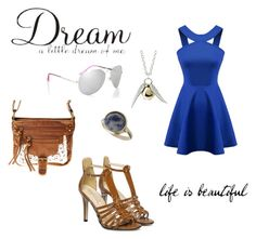 A fashion look from March 2016 featuring halter-neck tops, t-strap shoes and cross over bag. Lipsy, Life Is Beautiful, Miss Selfridge, Blue Dresses, Polyvore, Image, Fashion, Moda, Fashion Styles