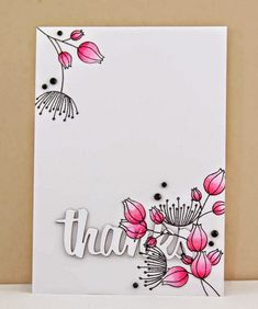 Hello! Hope all is well! I'm sharing this FABULOUS card by Ange today using my Doodle Flowers II stamp set! Simple and gorgeous! ...