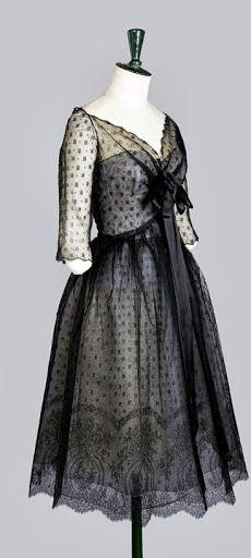 1960 Christian Dior, Haute Couture, evening dress - Design by Yves Saint Laurent