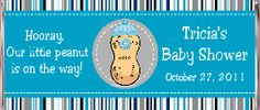 Our Little Peanut Boy Baby Shower Candy Bar Wrappers and Chocolate Favors - Baby Shower Candy Wrappers