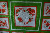 """Karen's quilting on Jeannie's """"Perfect Bliss"""""""