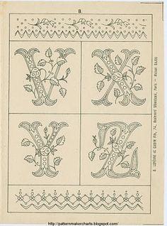 Free Easy Cross, Pattern Maker, PCStitch Charts + Free Historic Old Pattern Books: Sajou No 235
