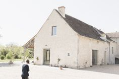 Renovated French stone farmhouse in Loire, France by Septembre Architects, Photograph by Linus Ricard   Remodelista