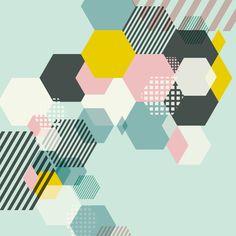 Canvas Print - Geometric Mint (60x60cm) by Sydney studio Urban Nest Designs   HardToFind.