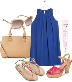 royal blue fall/winter 2014 2015 colors mango dress pink sandals office outfit inspiration casual outfit http://www.gordas.pt