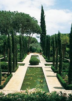 Beautiful formal garden by estela Formal Gardens, Outdoor Gardens, Garden Paths, Garden Landscaping, Landscape Architecture, Landscape Design, Parks, Sunken Garden, Italian Garden