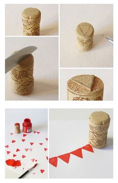 We should save all champagne corks and make stamps for little ones- stamp there own bunting pictures?