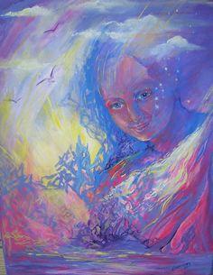 Spirit Guide Painting Acrylic on Canvas Spirited Art, Spirit Guides, Canvas, Artwork, Painting, Angels, Tela, Work Of Art, Auguste Rodin Artwork