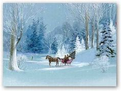 Country Christmas Scenes | Animated scenes of a snowy day in the city and in the country ideally ...