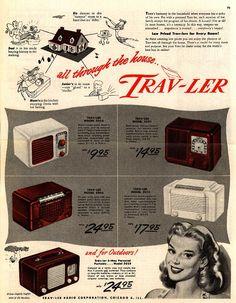 all through the house... Trav-Ler    1948