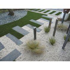 Allée de jardin moderne, contemporain et design... - vert mon ...