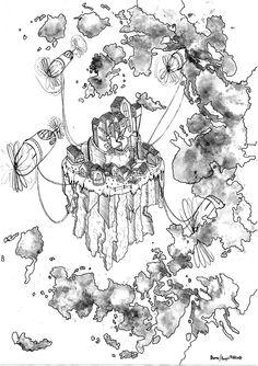 CloudsUp - Muji/Orange juice x black ink