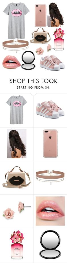 """Lips"" by goldenelenaisaunicorn on Polyvore featuring adidas Originals, Rare London, Belkin, Miss Selfridge, 1928, Marc Jacobs and MAC Cosmetics"