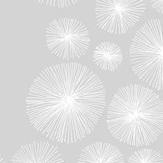 Spiralling Spirals (Hand Drawn) // White on Grey fabric by aldea on Spoonflower - custom fabric