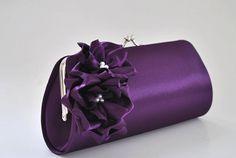 Dark Purple Clutch - Bridesmaid Clutch / Bridal clutch / Prom Clutch on Etsy, $29.79 AUD