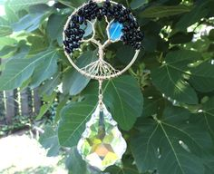 Tourmaline Crystal Suncatcher Large Prism by LifeForceEnergyShop