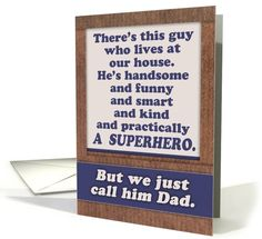 Father's Day, for Dad, superhero Dad, funny / humorous. card