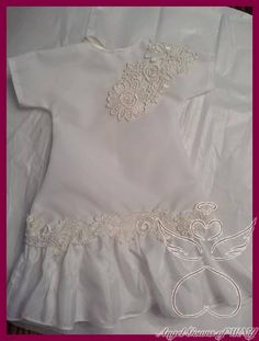 Made with love by a seamstress at Angel Gowns of WNY ♥ Angel Outfit, Angel Dress, Bridal Gowns, Wedding Gowns, Preemie Crochet, Christening Gowns Girls, Angel Gowns, Gown Pattern, Gowns For Girls