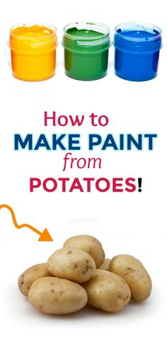 MAKE PAINT FROM POTATOES! (taste-safe recipe) #paintrecipe #paintrecipeforkids #paintrecipeshomemade #howtomakepaint #fingerpaintingideasforkids #ediblepaintforbabies #potatopaint #artsandcraftsforkids Edible Finger Paints, Edible Paint, Baby Crafts, Toddler Crafts, Kid Crafts, Baby Art Activities, Sensory Activities, Baby Finger Paint, Finger Painting For Toddlers