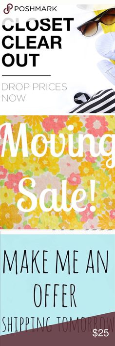 ❗️MOVING Clear Out SALE--ALL Must GO❗️ ❗️Moving out of state & clearing out my whole closet! Over 1000 top labels---all sizes to shop from! XS-Plus size!! Take a look! Feel free to make an offer! I'm giving to the first reasonable offer I receive & give great bundle deals! Moving Clearout Sale--all must go! ;-) Free People Dresses