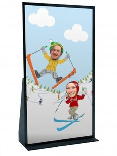 Event Prop Hire: Ski Characters Peep Thru Board