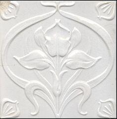 Beautiful.......Carreau émaillé blanc... Art Nouveau