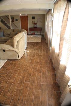 Natural Timber Cinnamon 6x24 Inkjet Porcelain Wood Look