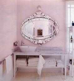 Pink spa bathroom