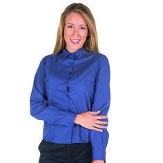 Camisa entallada mujer blanca punteada Chiara Uniformes