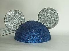 Disney Antenna Topper - Mickey Ears Hat - Blue and Silver. Love the glitter!