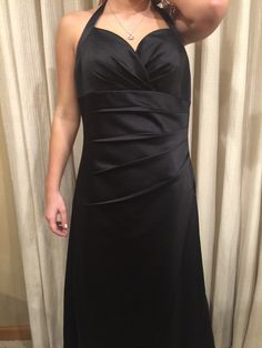 Black halter prom dress- size 8 $20.00 at www.closetrent.com