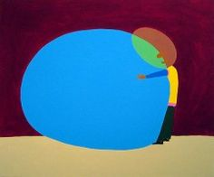 Peter McDonald, born Tokyo 1973, lives and works in London.  'Egg Hug' 2004  acrylic on canvas  127 x 153 cm