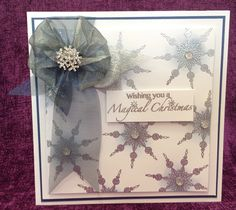 Card made by Chloe using Stamps by Chloe Small Beaded Snowflake Stamps by Chloe Magical Christmas