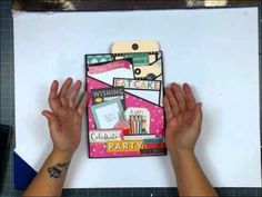 Photo Mat & Insert 10 - Echo Park: Party Time - by Kathy Orta King. Fabulous!