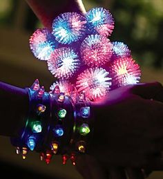 Light up bracelets- Can also be used in decorating
