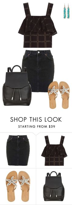 """""""Untitled #1010"""" by julz28520 ❤ liked on Polyvore featuring Topshop, ace & jig, ASPIGA, rag & bone and Natasha Accessories"""