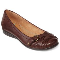 4b0f0cd760fa Yuu™ Gander Pleated Buckle Flats found at  JCPenney Brown Slip On Shoes