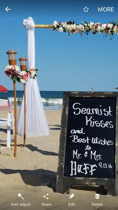 Beach Wedding Arbor Coral And White Flowers Barefoot Bride Ocean City MD