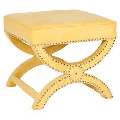 Not a big fan of the color at my house (although it's a very pretty yellow), but I've seen this shape of ottoman EVERYWHERE, and I feel I must have one (or two!).