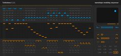 Turbulence waveshape modelling sequencer from Sinevibes. AudioUnits AU for OSX. http://www.sinevibes.com