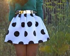 awww polka dotted skirt. completely adorable