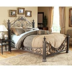Keys to Luxury. Imagine the opulent, well-loved charm of a European villa, with the inspiration of yesteryear, and you begin to get the flavor of the Talon King bed. Gracefully scrolled with old world styling and a timeless gilded slate finish, this bed radiates romantic warmth that is often missing from today's furniture.