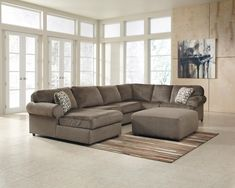 Signature Design by Ashley Jessa Place - Dune Stationary Living Room Group - L Fish - Upholstery Group Indianapolis, Greenwood, Greenfield, Fishers, Noblesville, Carmel, Avon, Plainfield, IN